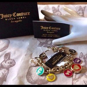 Rare Juicy Couture gold bracelet charm watch pink